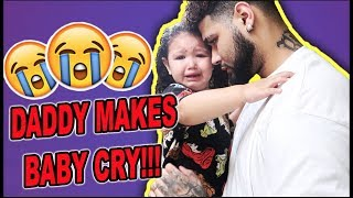 DADDY DOES DAUGHTERS HAIR!!! (SHE CRIED) FAIL!!!