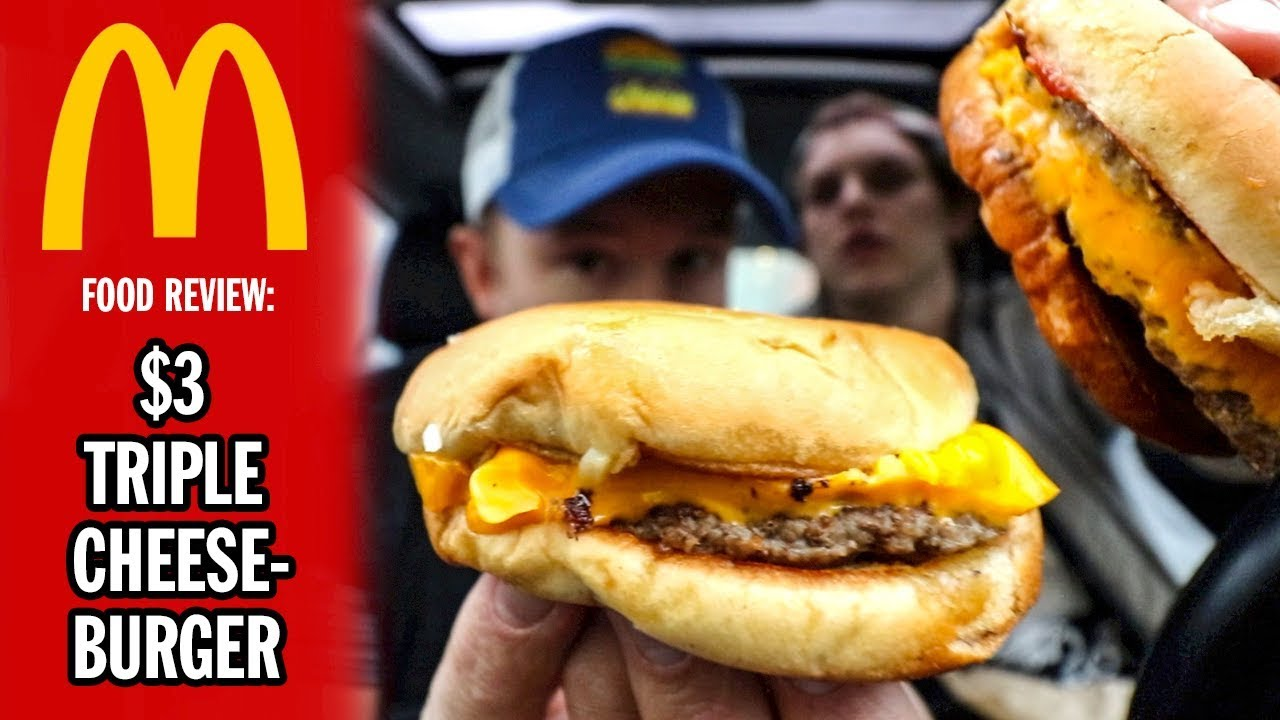mcdonald s 3 triple cheeseburger food review season 5 episode 19