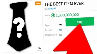 BUYING THE BEST ITEM IN ROBLOX