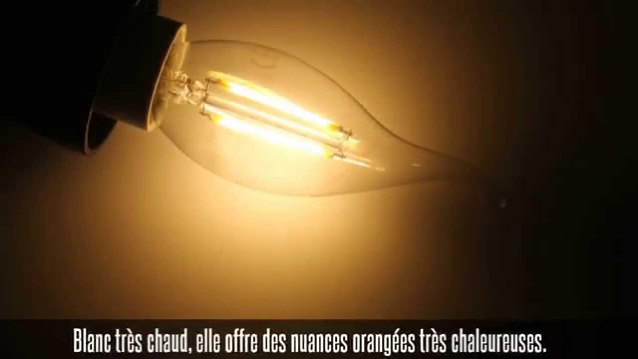 ampoule led filament e14 2w 210 lm 300 youtube. Black Bedroom Furniture Sets. Home Design Ideas