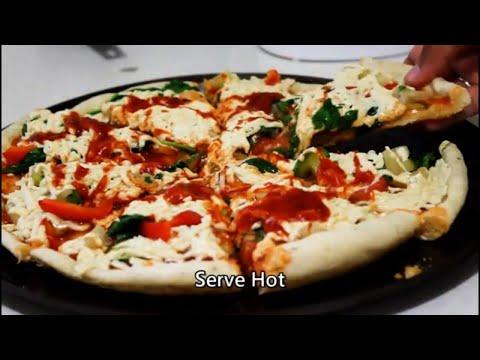 How To Make No Bake No Yeast VEGAN Pizza   Bread Recipes   Vegan Food Recipes