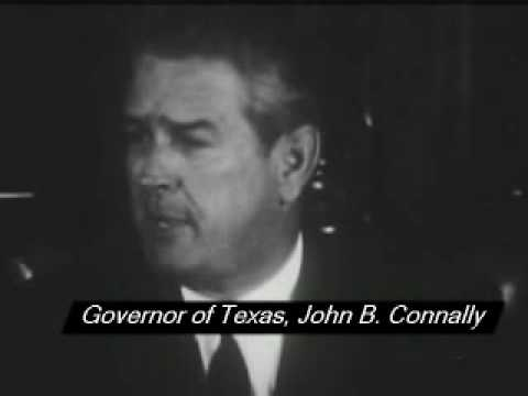 Texas Governor John B. Connally praises the Warren Commission