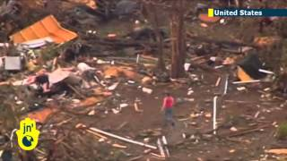 Twisters strike: tornadoes smash American midwestern plains