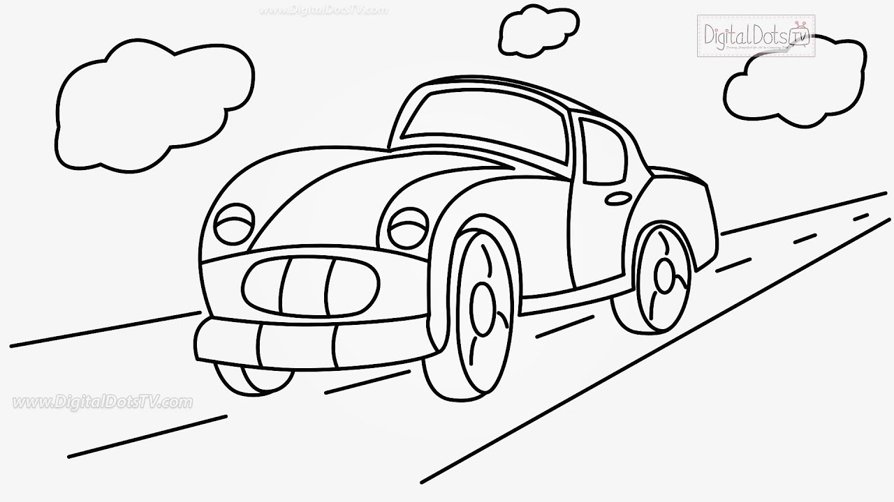 How to Draw Cartoon Car Step by Step - How to Draw Cartoons Step by ...