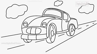 How to Draw Cartoon Car Step by Step - How to Draw Cartoons Step by Step