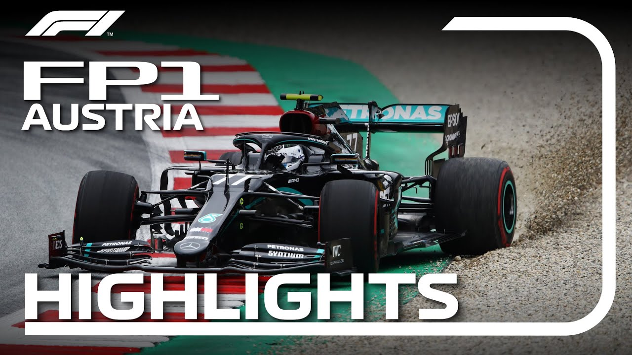 2020 Austrian Grand Prix Fp1 Highlights Youtube