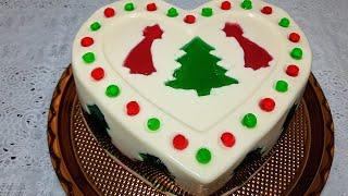 Sobremesa de Natal – Gelatina Decorada