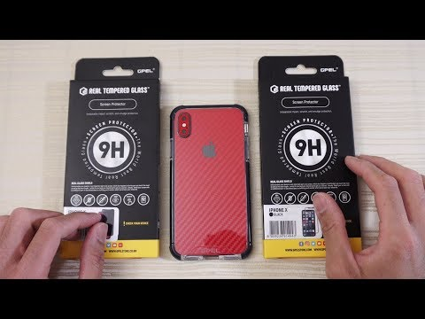 Download Youtube: iPhone X Privacy Glass and EverPure Max Hybrid Case by GPEL!