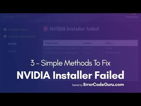 Fix NVIDIA Installer Failed - 3 Methods