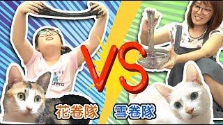 【挑戰遊戲】貓咪幫我選史萊姆材料,比賽看誰做的漂亮[NyoNyoTV妞妞TV玩具]