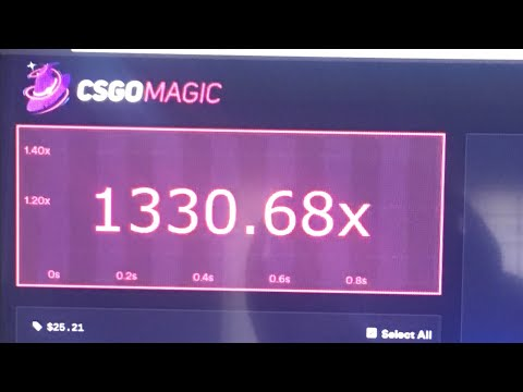 Giveaway Results on CSGO magic with a crazy 1,330X