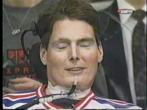 NHL Cool Shots Jennifer Smith interviews Christopher Reeve at New York Rangers, .mp4