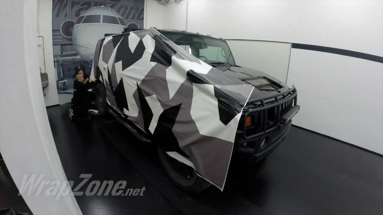 Wrapzone Hummer H2 Camo Wrap Youtube