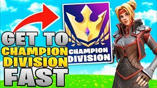 How To Get To Champions Division In Fortnite Chapter 2! (Fortnite Arena Mode Tips)