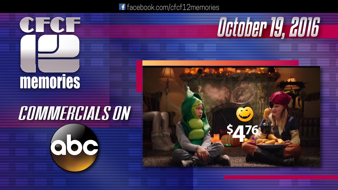 2016 10 19 halloween commercials during charlie brown on abc - Charlie Brown Halloween Abc