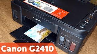 Обзор Canon PIXMA G2410 | Заправка, подключение и тестирование МФУ