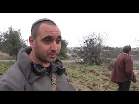 Occupation forces preventing Palestinian farmer from cultivating his private land