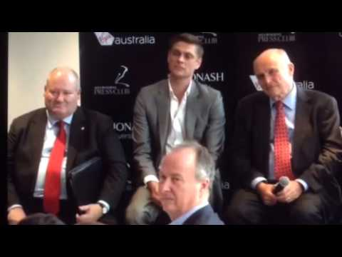 I barracked for AUSTRAC at Melbourne Press Club yesterday