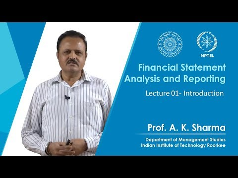 NPTEL :: Management - NOC:Financial Statement Analysis and