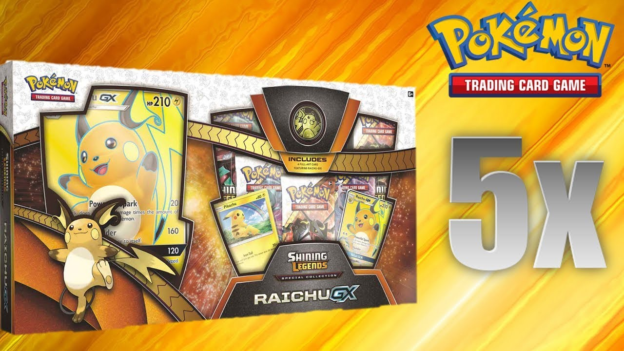 Pokemon Trading Card Game Shining Legends Special Collection Raichu GX Box NEW