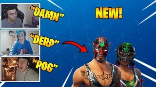 STREAMERS REACT TO *NEW* WRESTLING SKINS IN FORTNITE | DAILY FORTNITE MOMENTS #13