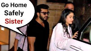 Arjun Kapoor Escorts Sister Jhanvi Kapoor To Car