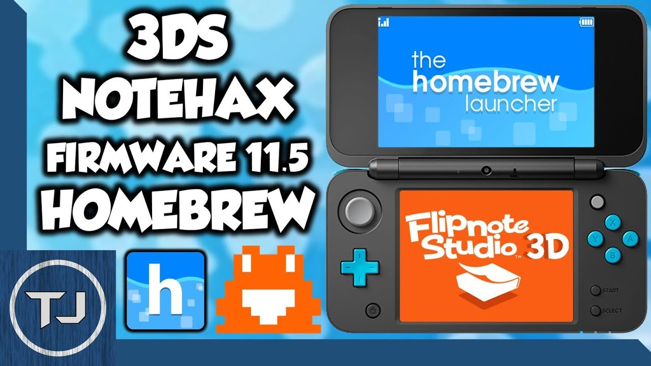 NEW! How To Homebrew 3DS 11 5! Notehax! (Flipnote Exploit) 2017!