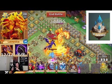 JT's Main Guild Wars LAVANICA Tank Set Up HEAD 2 HEAD Castle Clash