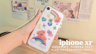 iphone xr unboxing in 2021 + accessories (aesthetic + asmr) 🧸🌸