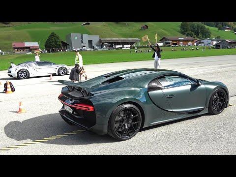 Bugatti Chiron Sport vs Bugatti Veyron Grand Sport Vitesse L'Or Blanc