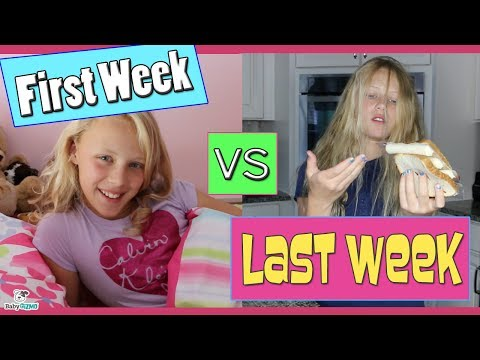 FIRST WEEK of SCHOOL vs LAST WEEK OF SCHOOL MORNING ROUTINE