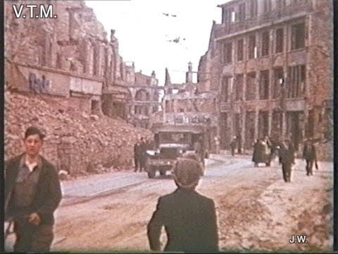 World War Two Archive Footage of the Bombing of Germany and Frankurt 1944/45
