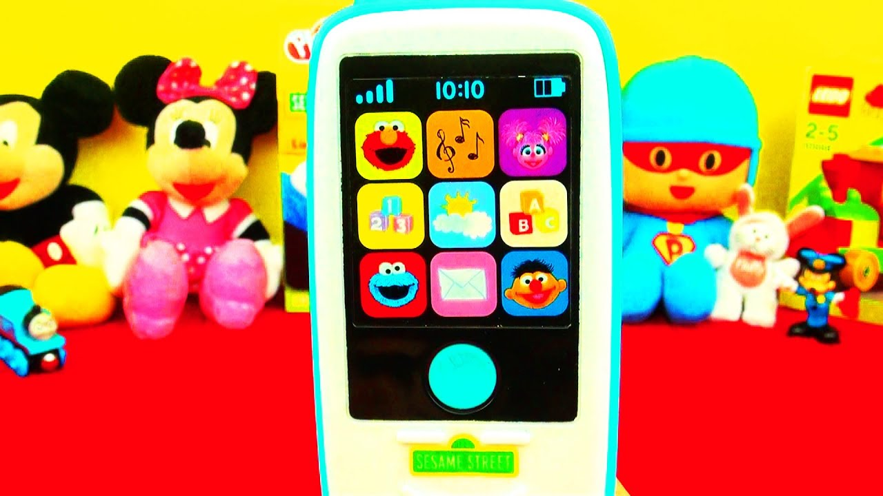 123 Sesame Street Smartphone Cookie Monster Elmo Ernie Abby Cadabby Alphabet Song Count Numbers Toy
