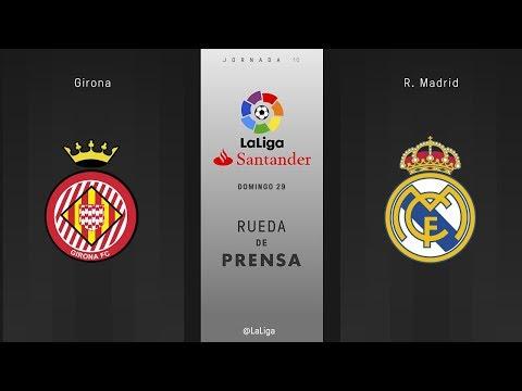 Rueda de prensa Girona vs R. Madrid