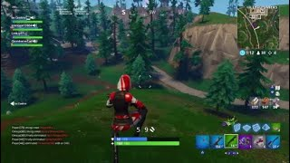 Fortnite:Battle royale 23 kill squad game WITH PC PLAYER!