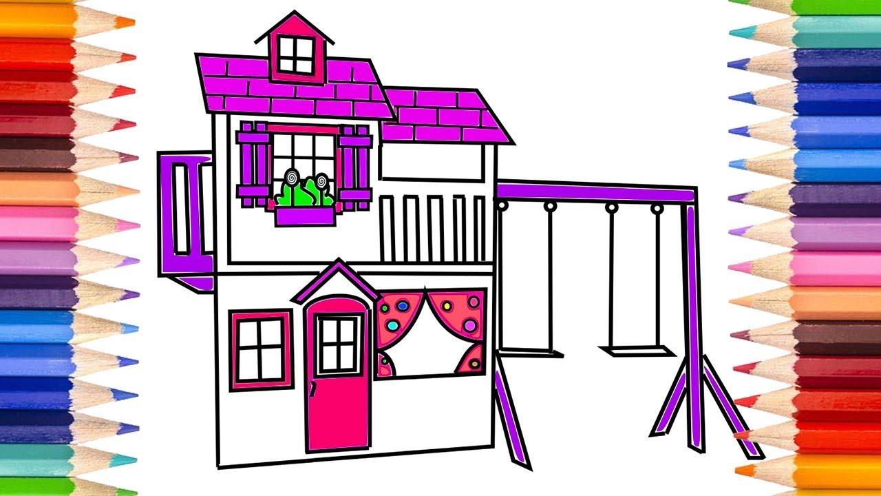 How To Draw A Playhouse For Kids