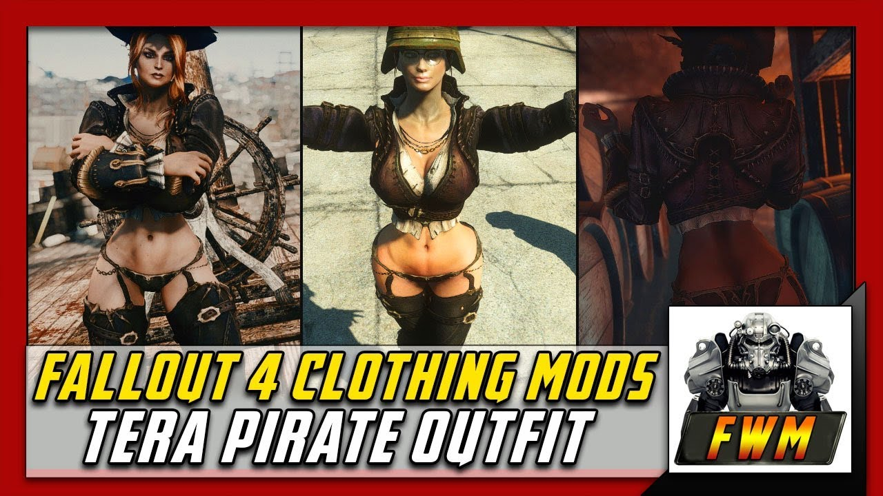 Fallout 4 Clothing Mods Tera Pirate Outfit at Fallout 4