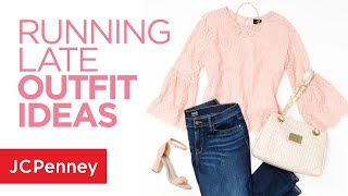 Video 3 Running Late Outfit Ideas: Fashion Tips and Hacks from JCPenney download MP3, 3GP, MP4, WEBM, AVI, FLV Juni 2018