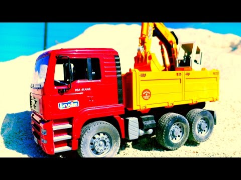 Construction Trucks For Children! Toy Excavators Trucks For Kids Мультики про машинки Грузовик