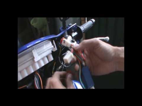 Hazard Installation on Yamaha Sniper - YouTube