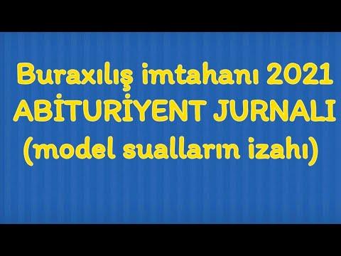 Buraxilis Imtahani 2021 Model Suallar Abituriyent Jurnali Dim Youtube