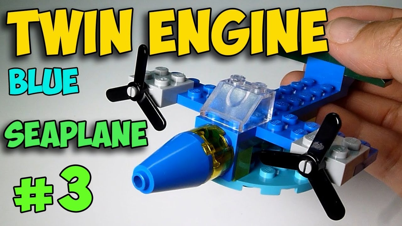 LEGO Twin Engine Blue Seaplane - How to Build ( All Parts From Classic Set  10692 )