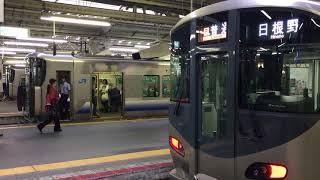 225系ばかりの阪和線天王寺駅 JR Hanwa Line Tennōji Station (2017.9)
