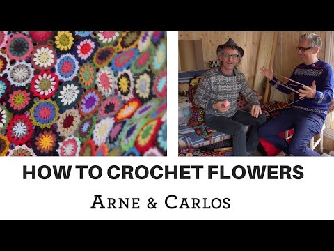 How to crochet flowers to make a colorful throw   ARNE & CARLOS