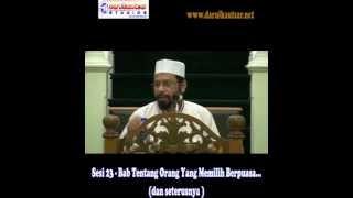 Sunan Abu Daud - Syarah Hadith - Kitab Puasa-Sesi 23 - 141014