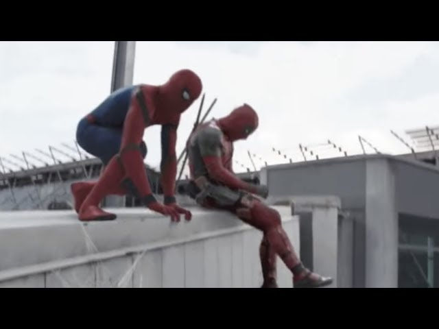 Deadpool irrumpe durante la aparición de Spiderman en Civil War