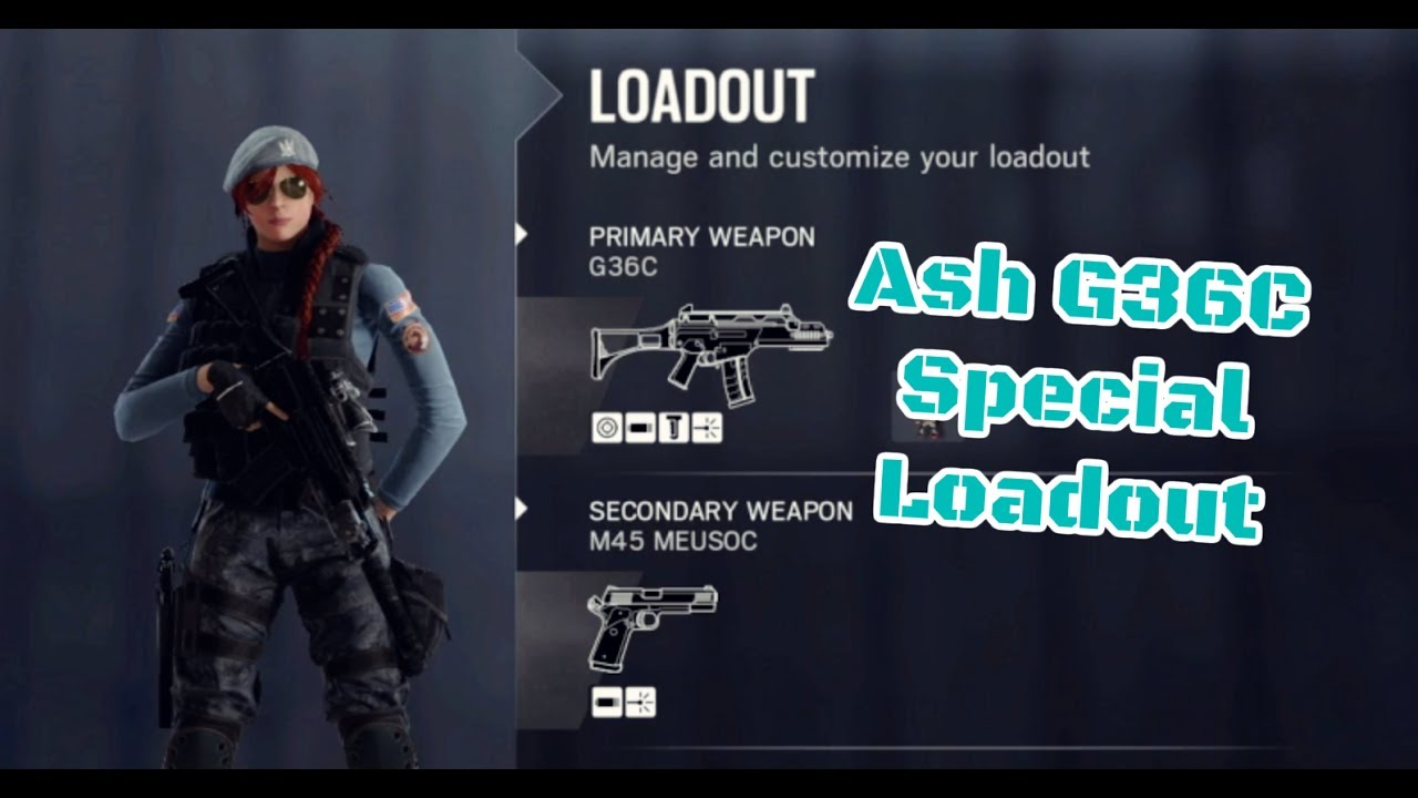 Ash G36C Special Loadout - Rainbow Six Siege Operation Health Ranked  (English Subtitle / Cantonese)