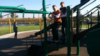 Zack and Nick at playground
