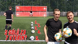 Will I score 5 goals in 7 seconds? | Football Challenge w / Flajtr