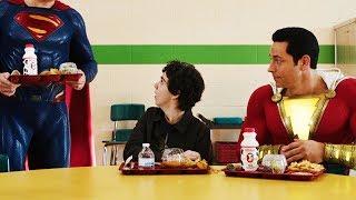 Шазам и Супермен в школьной столовой   Шазам (2019)